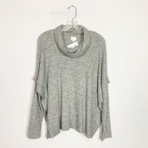 Anthropologie Postmark | cowl neck sweater grey XS